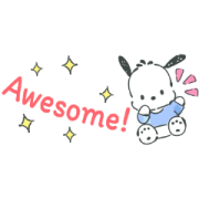 Pochacco Small Stickers Sticker for LINE & WhatsApp | ZIP: GIF & PNG