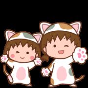 Pokopoko × Chibi marukonyan Sticker Sticker for LINE & WhatsApp | ZIP: GIF & PNG