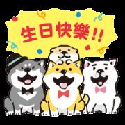 SHIBANBAN: Chinese 5th Anniversary Sticker for LINE & WhatsApp | ZIP: GIF & PNG
