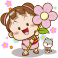 Sakura Cocoa ✿ Flower Stickers [BIG]