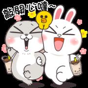 Very Miss Rabbit × BROWN & FRIENDS Sticker for LINE & WhatsApp | ZIP: GIF & PNG