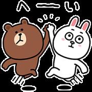 Yuji Nishimura × BROWN Sticker for LINE & WhatsApp | ZIP: GIF & PNG
