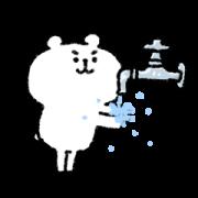 Yurukuma in Home Quarantine Sticker for LINE & WhatsApp | ZIP: GIF & PNG
