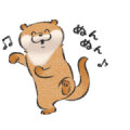 Animated Cute Lie Otter 2