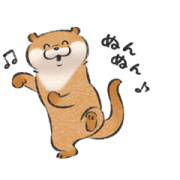 Animated Cute Lie Otter 2 Sticker for LINE & WhatsApp | ZIP: GIF & PNG
