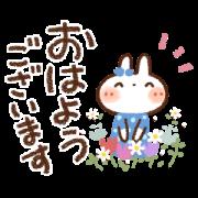 Animated White Rabbit Sticker for LINE & WhatsApp   ZIP: GIF & PNG