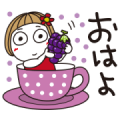Hanako × LINE Part Time Jobs Sticker for LINE & WhatsApp | ZIP: GIF & PNG