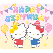 Hello Kitty Pop-Up Greeting Stickers Sticker for LINE & WhatsApp | ZIP: GIF & PNG