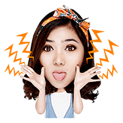 Isyana the Cheerful Girl Sticker for LINE & WhatsApp | ZIP: GIF & PNG