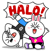 LINE Characters: Daily Greetings Sticker for LINE & WhatsApp | ZIP: GIF & PNG