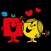 MR.MEN LITTLE MISS Sticker for LINE & WhatsApp | ZIP: GIF & PNG