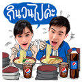 Pepsi With Food Sticker for LINE & WhatsApp | ZIP: GIF & PNG