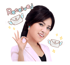 Raisa the Office Lady Sticker for LINE & WhatsApp | ZIP: GIF & PNG