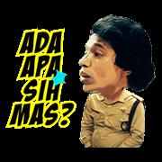 Warkop DKI Reborn: Jangkrik Boss Part 1 Sticker for LINE & WhatsApp | ZIP: GIF & PNG