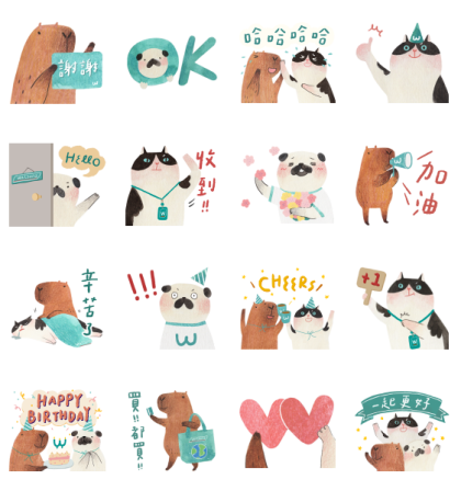 Watsons × Mr.Cat & Friends Line Sticker GIF & PNG Pack: Animated & Transparent No Background | WhatsApp Sticker