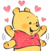 Winnie the Pooh by Lommy Sticker for LINE & WhatsApp   ZIP: GIF & PNG