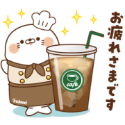 Working Sarcastic Seal and Rude Bear Sticker for LINE & WhatsApp   ZIP: GIF & PNG