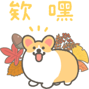 1corgi Animated Stickers in Autumn Sticker for LINE & WhatsApp | ZIP: GIF & PNG