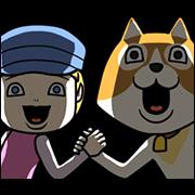 Dear Dog of Flanders Sticker for LINE & WhatsApp | ZIP: GIF & PNG