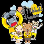 Krungsri: Bear Love Story Sticker for LINE & WhatsApp | ZIP: GIF & PNG