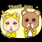Krungsri Bears: Friendship Story Sticker for LINE & WhatsApp | ZIP: GIF & PNG