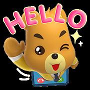 Krungsri Bears Pop-Up Stickers Sticker for LINE & WhatsApp | ZIP: GIF & PNG