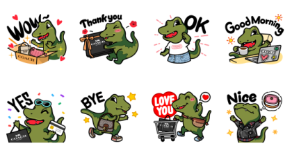 Let's celebrate with COACH EC launch! Line Sticker GIF & PNG Pack: Animated & Transparent No Background | WhatsApp Sticker