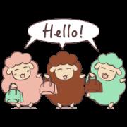 Loro Piana and sheep friends! Sticker for LINE & WhatsApp   ZIP: GIF & PNG