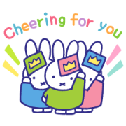 Motivational miffy Stickers Sticker for LINE & WhatsApp | ZIP: GIF & PNG