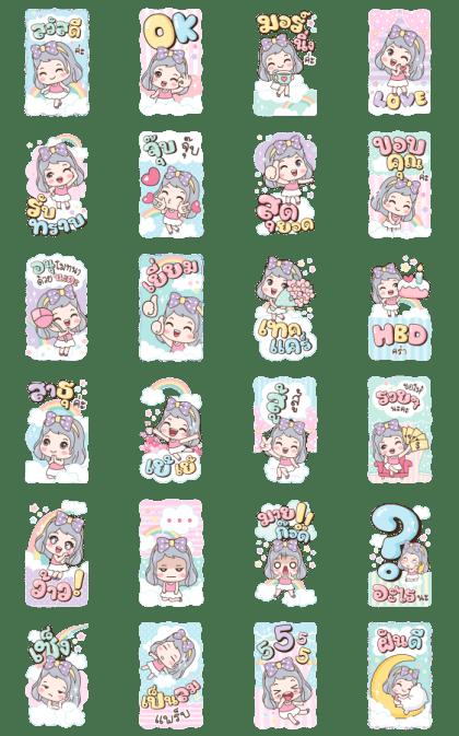 Pangpiak Sweet Dream Line Sticker GIF & PNG Pack: Animated & Transparent No Background | WhatsApp Sticker