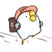 That Bird Animation 4 Sticker for LINE & WhatsApp | ZIP: GIF & PNG