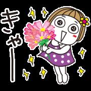 Tokimeki Hanako by kikipuri Sticker for LINE & WhatsApp | ZIP: GIF & PNG