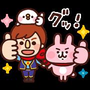 kanahei×Japanet Collaboration Sticker Sticker for LINE & WhatsApp | ZIP: GIF & PNG