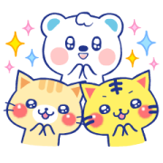 A lot of cats×Uetan Stickers Sticker for LINE & WhatsApp | ZIP: GIF & PNG