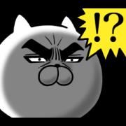 Attractive eye's cat×NURO Hikari Sticker for LINE & WhatsApp | ZIP: GIF & PNG