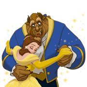 Beauty and the Beast (Animated Movie) Sticker for LINE & WhatsApp   ZIP: GIF & PNG