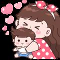 Boobib Big Love Sticker for LINE & WhatsApp   ZIP: GIF & PNG