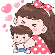 Boobib Big Love Sticker for LINE & WhatsApp | ZIP: GIF & PNG