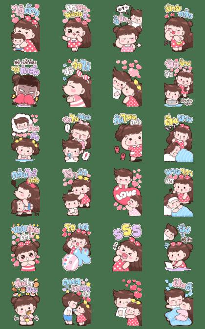 Boobib Big Love Line Sticker GIF & PNG Pack: Animated & Transparent No Background   WhatsApp Sticker