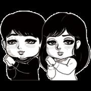 ComicCmoa×Takeuchi&Nakajo&Emoto Sticker for LINE & WhatsApp | ZIP: GIF & PNG