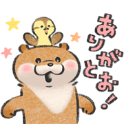 Cute lie otter × LINE Pay Sticker for LINE & WhatsApp | ZIP: GIF & PNG
