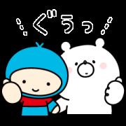 Girly bear×MeijiYasudaLife Sticker for LINE & WhatsApp | ZIP: GIF & PNG