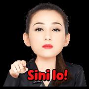 Julie Estelle The Tough Girl Sticker for LINE & WhatsApp | ZIP: GIF & PNG