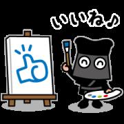 KUROKO stickers Sticker for LINE & WhatsApp   ZIP: GIF & PNG