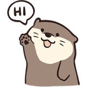 LINE Official Select × Locs Otter Sticker for LINE & WhatsApp | ZIP: GIF & PNG