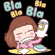 Miedie Bla Bla Bla Sticker for LINE & WhatsApp | ZIP: GIF & PNG