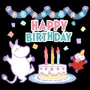 Moomin Versatile Event Stickers Sticker for LINE & WhatsApp | ZIP: GIF & PNG