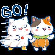 Pcone × MinMinCat Sticker for LINE & WhatsApp | ZIP: GIF & PNG