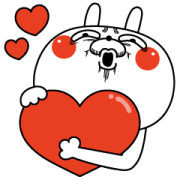 Rabbit expression is too rich×Sukimani Sticker for LINE & WhatsApp | ZIP: GIF & PNG