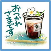 Sweet Healing's Summer Vacation Sticker for LINE & WhatsApp | ZIP: GIF & PNG